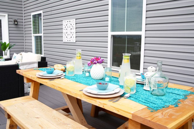 Use a Scarf as a Table Runner, DIY Farmhouse Table