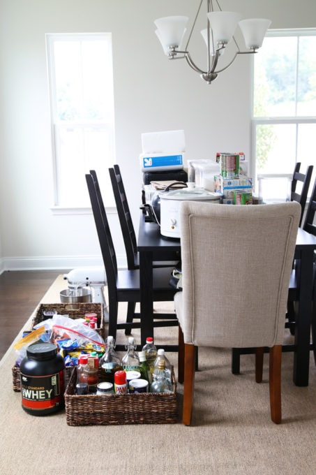 Items Removed from the Pantry for Decluttering and Organizing