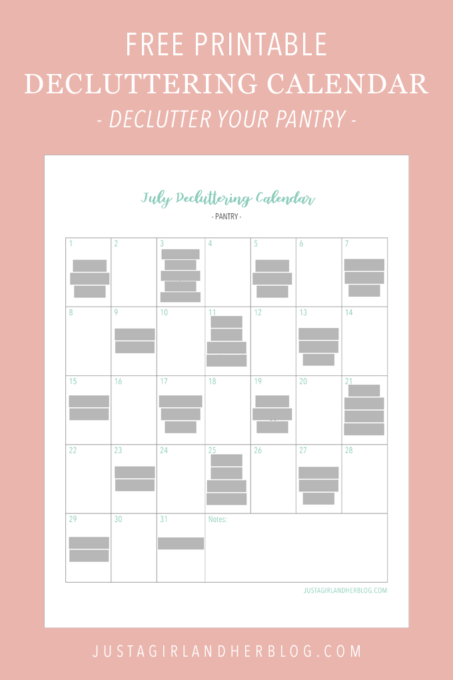 How to Declutter the Pantry (with Free Printable Decluttering Calendar!)