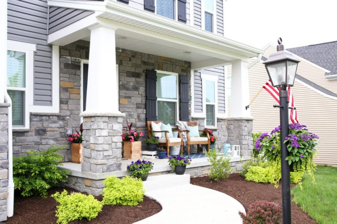 Craftsman Style Front Porch, Summer Porch Decor