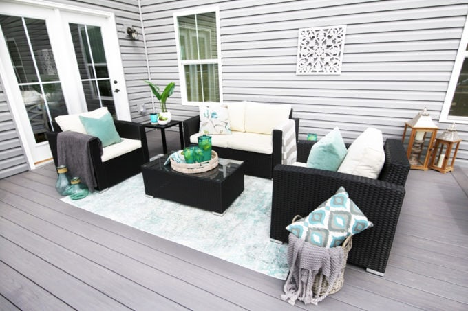 Outdoor Seating Area, Summer Deck Decorating Ideas