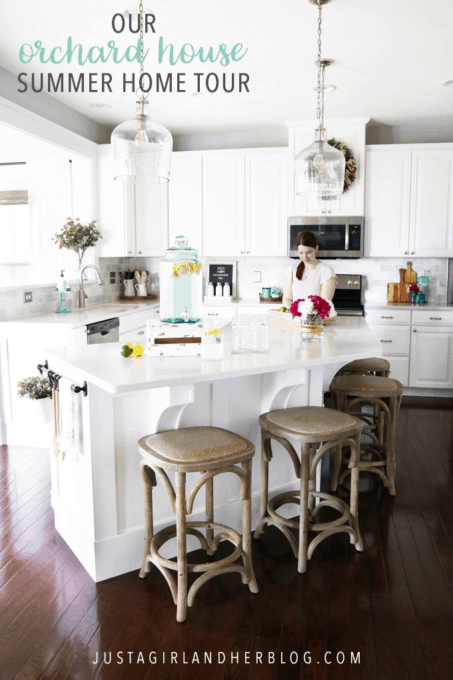 Our Orchard House Summer Home Tour, white kitchen, cottage kitchen
