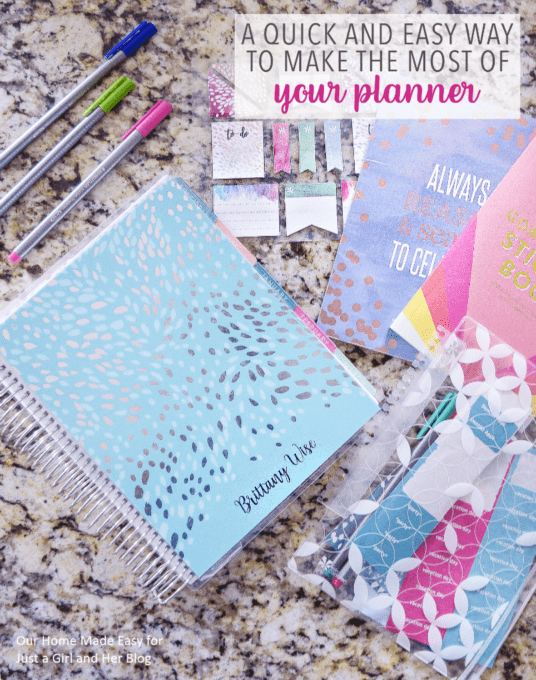 A Quick and Easy Way to Make the Most of Your Planner
