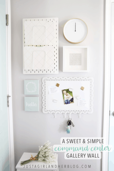 A Sweet and Simple Command Center Gallery Wall for Back-to-School
