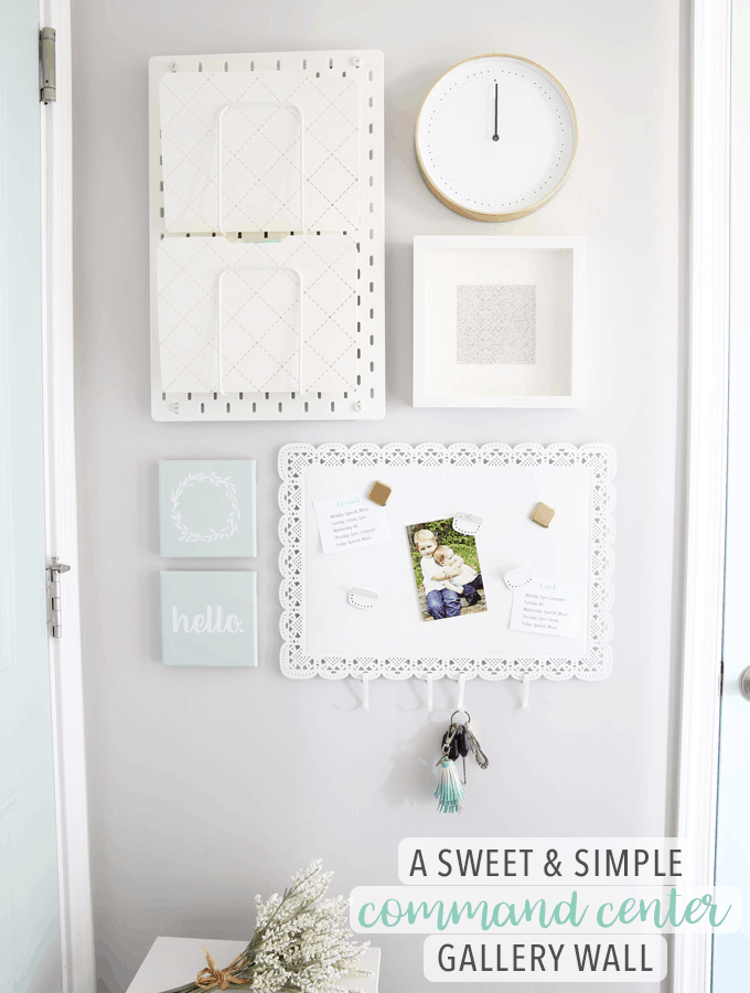 A Sweet and Simple Command Center Gallery Wall for Back to School with IKEA