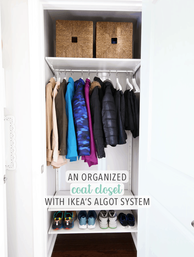 An Organized Coat Closet with the IKEA ALGOT System