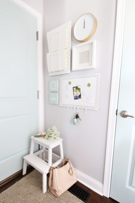 Command Center Gallery Wall in Mudroom, Back to School with IKEA