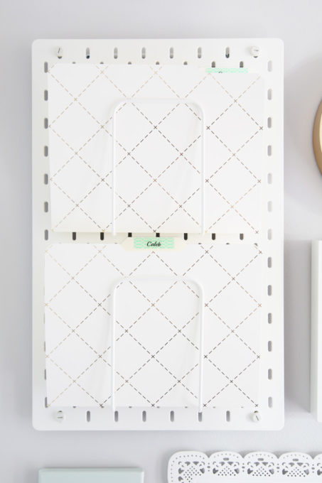 IKEA SKADIS Pegboard for a Command Center Gallery Wall