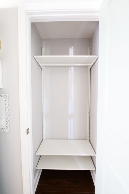 Organized Coat Closet with IKEA ALGOT Shelving, Empty