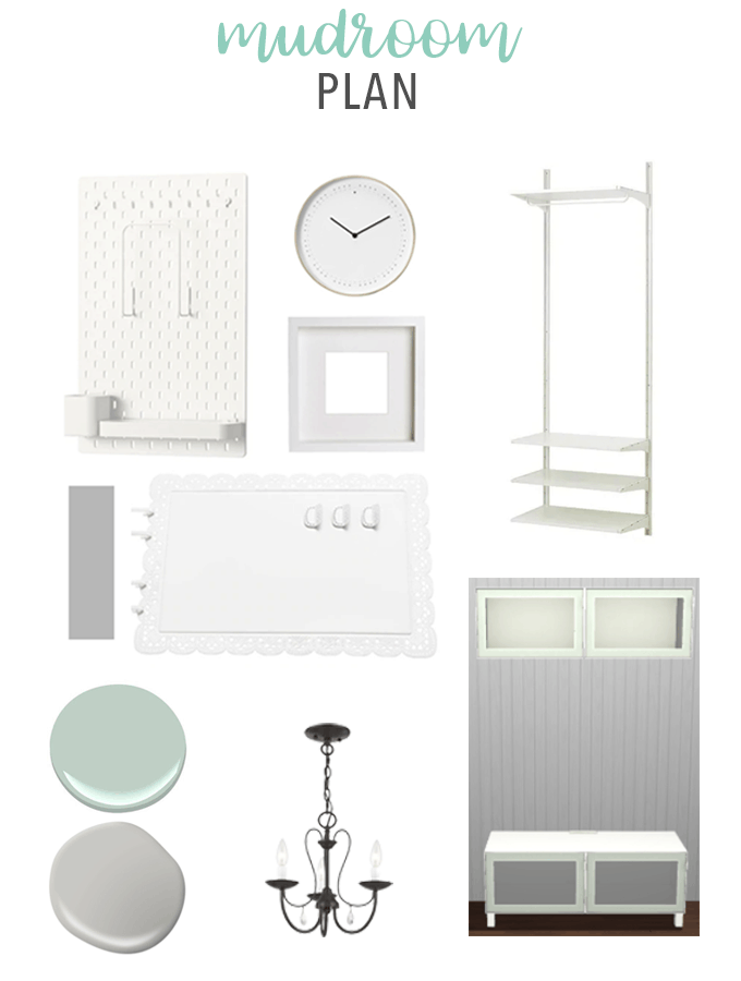 Our Mudroom Plan Moodboard
