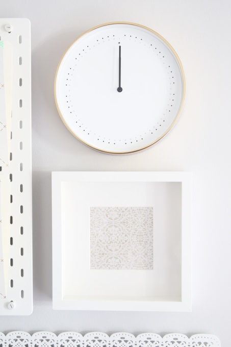 IKEA PANORERA Clock and IKEA RIBBA Picture Frame