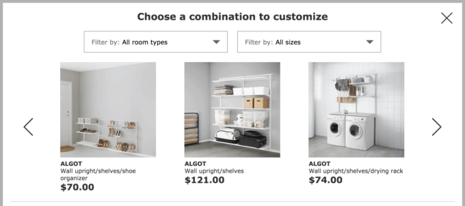 IKEA's ALGOT Planning Tool for Creating ALGOT Closet Plans