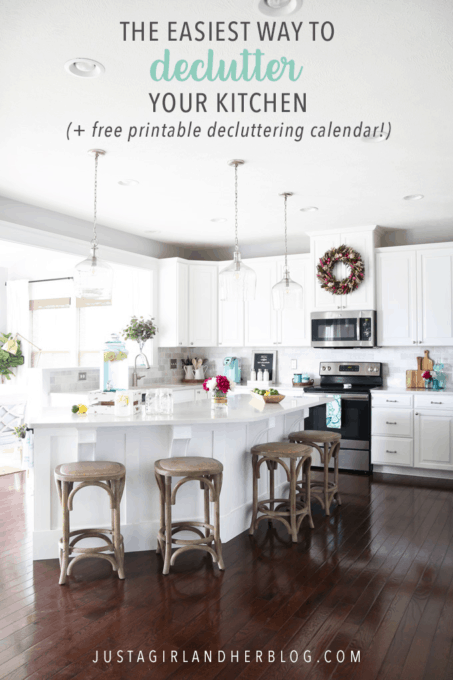 The Easiest Way to Organize Your Kitchen with a Free Printable Decluttering Calendar