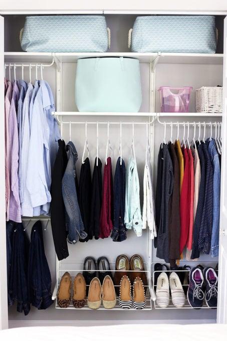 IKEA ALGOT system to organize a master closet