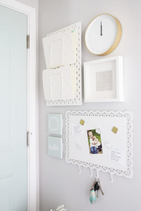 Command Center Gallery Wall with IKEA RIBBA Frame