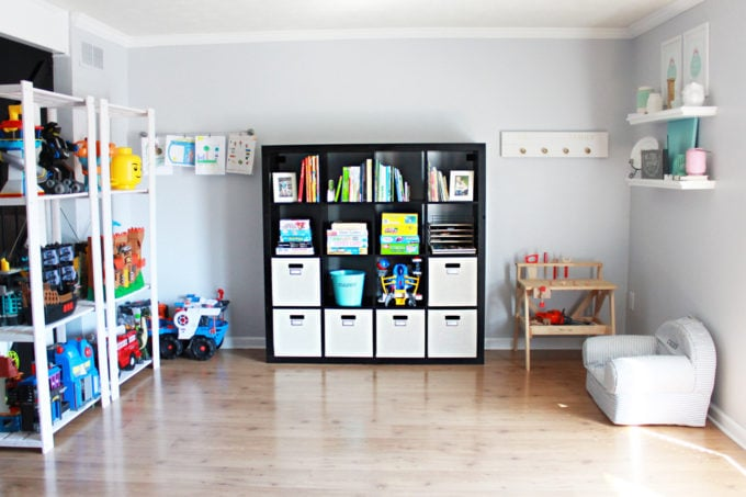 Organized Playroom In A Small Townhouse