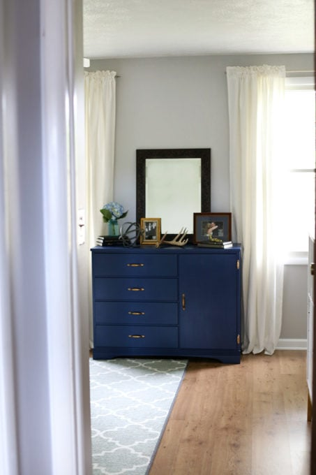 Thrift Store Dresser in a Master Bedroom