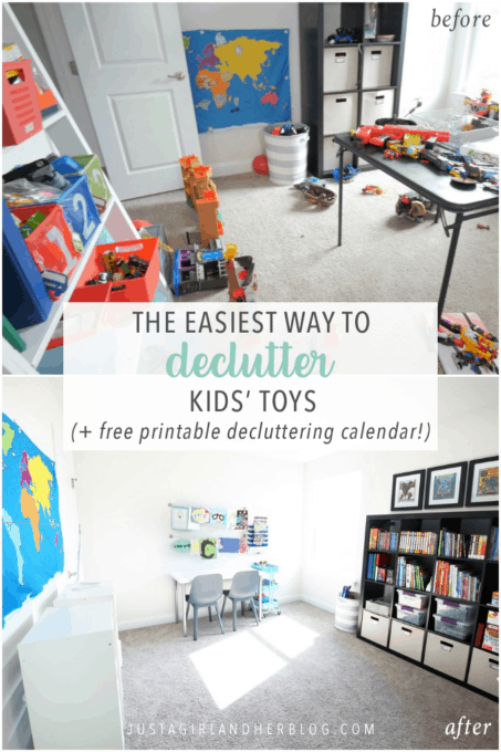 The Easiest Way to Declutter Kids' Toys, Free Printable Decluttering Calendar