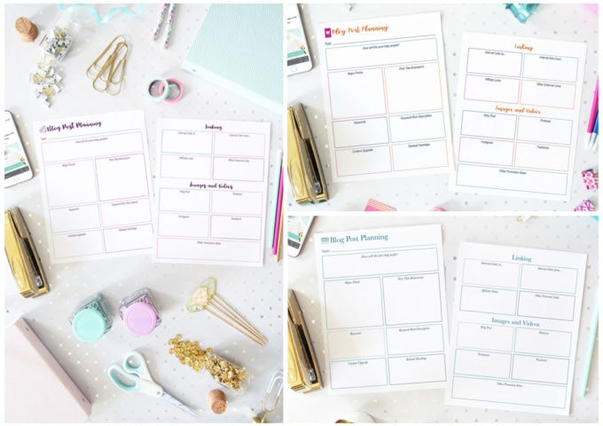 Blog Post Planning Printables from Abby Organizes: The Shop, abbyorganizes.com