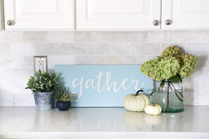 DIY Sign with Fall Decor