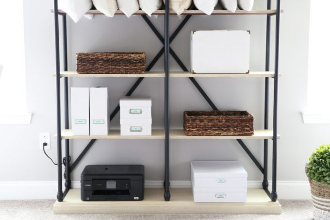 Printer on Etagere in Home Office