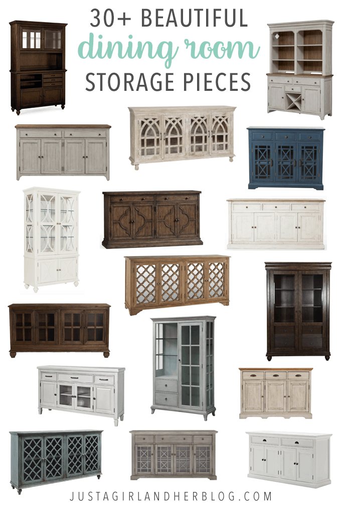 These beautiful dining room storage pieces will keep your room organized and look gorgeous at the same time! | #diningroom #organization #storage #organize #chinacabinet #hutch #sideboard #buffet