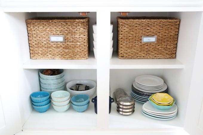 Organized China Cabinet, Dining Room Storage Piece