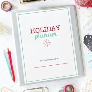 Christmas Binder / Holiday Planner to help you get organized