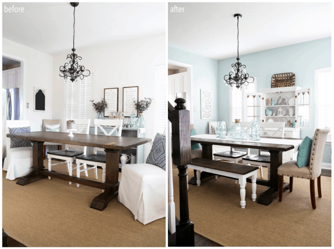 Dining Room Decor Before and After