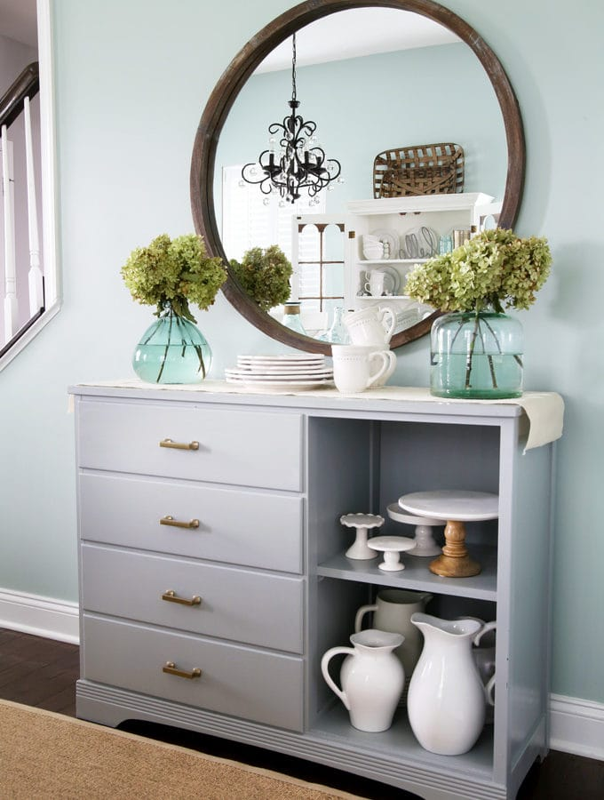Upcycled Sideboard Buffet for Dining Room Storage