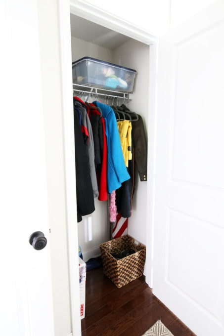 Mudroom Coat Closet Before Photo