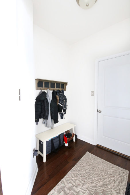 Mudroom Nook Before Photo with Bench and Shelf