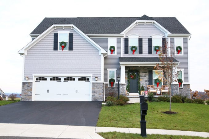 Craftsman Style Home with Christmas Decor