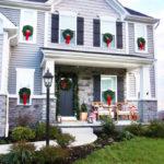 Traditional Christmas Porch Decor