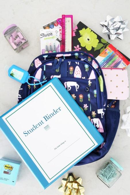 Student Binder Printables Christmas Gift