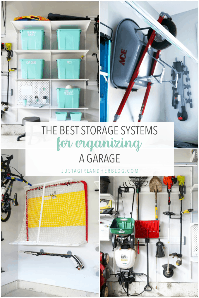 Organizing a garage can feel like a daunting task, but when you have the best storage systems working for you, it doesn't have to be difficult at all! I've rounded up my favorite storage systems for organizing a garage so your next garage project can be an easy one! | #garage #garageorganization #organizedgarage #garagestorage #organization #organized #organizing #organize
