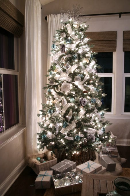 Christmas Tree at Night in a Sunroom, Ryan Homes Palermo