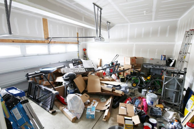 "Messy Garage ""Before"" Photo"