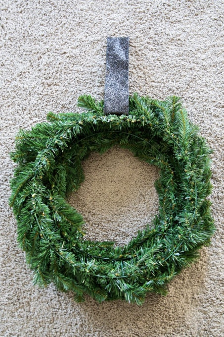 Outdoor Wreath on Hanging Ribbon for Christmas