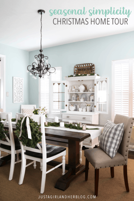 Seasonal Simplicity Christmas Home Tour- Dining Room