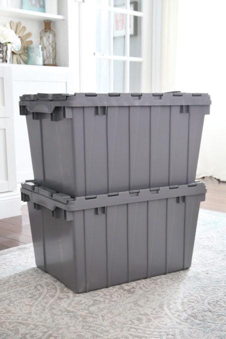 Akro-Mils Storage Bins Stacked Up