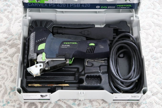 Festool Systainer Tool Storage Sytem Holding a Jigsaw