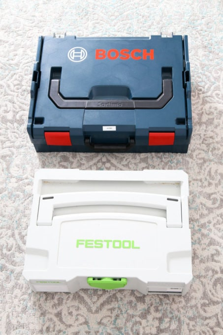 Festool Systainer Next to Bosch L-Boxx Tool Storage System