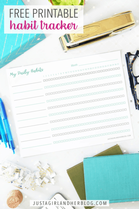picture relating to Habit Tracker Free Printable named Totally free Printable Practice Tracker Abby Lawson