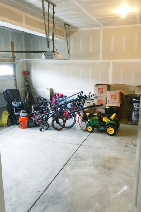 Garage After Phase One of Organization