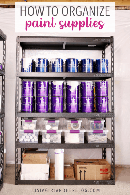 How to Organize Paint Supplies in a Basement or Garage
