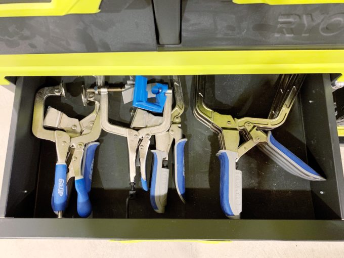 Inside the Drawer of the Ryobi Toolblox Storage System