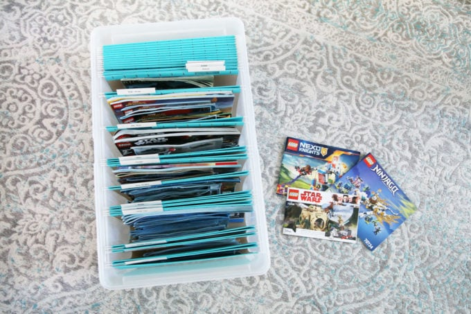 File Box for Organizing LEGO Instruction Manuals