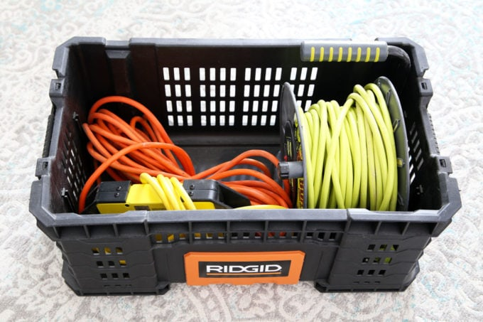 Ridgid Pro Crate with Heavy Duty Extension Cords
