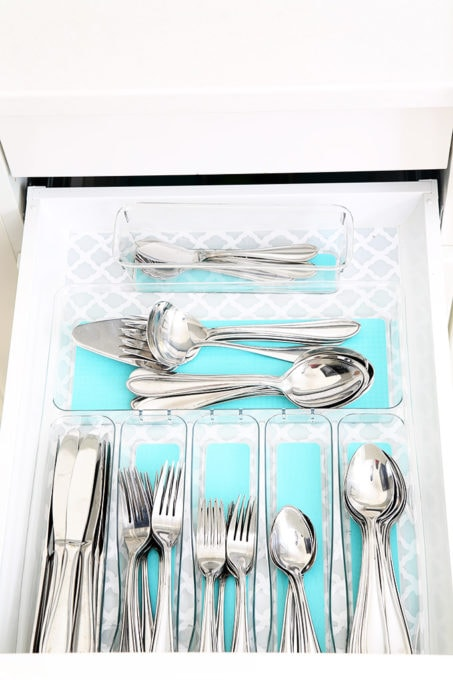 Organized Silverware Drawer, Organized Kitchen